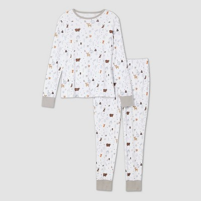 Women's Cabin Print Matching Family Pajama Set - White S