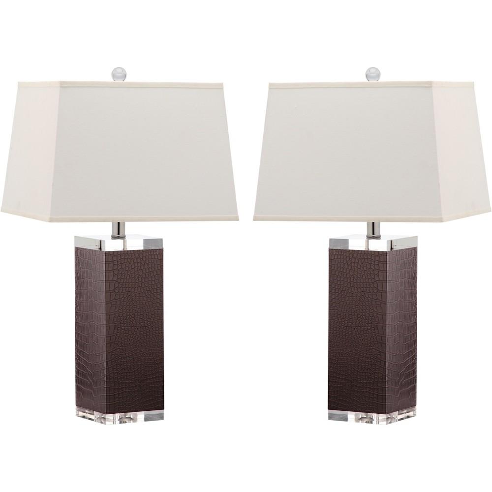 Piper Table Lamp (Set of 2) - Brown - Safavieh