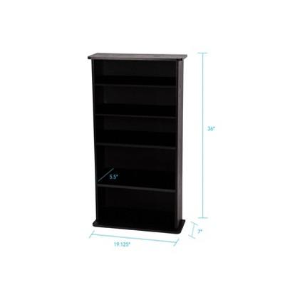 Drawbridge Multimedia Storage Rack Black - Atlantic : Target