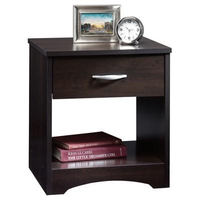 Beginnings Nightstand with Drawer & Open Shelf - Cinnamon Cherry - Sauder