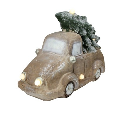 """Northlight 15.5"""" LED Lighted and Musical Vintage Truck with Christmas Tree Tabletop Decor"""
