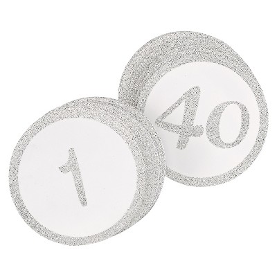 """40ct """"1-40"""" Table Number Cards"""