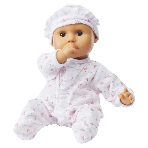 Melissa & Doug® Mine to Love Mariana 12-Inch Poseable Baby Doll With Romper and Hat - image 1 of 3