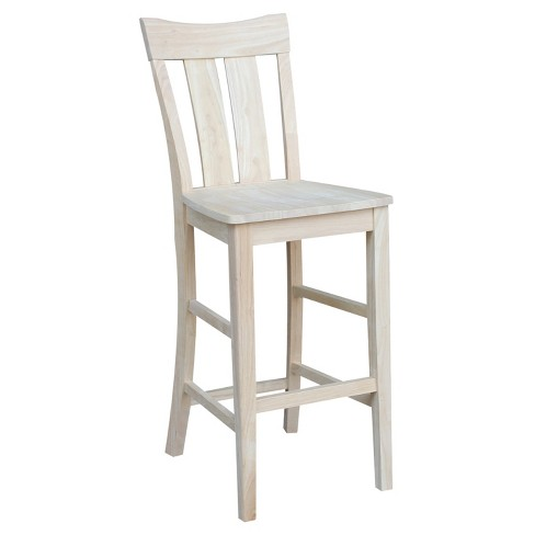"""30"""" Ava Bar height Stool - Unfinished - International Concepts - image 1 of 4"""