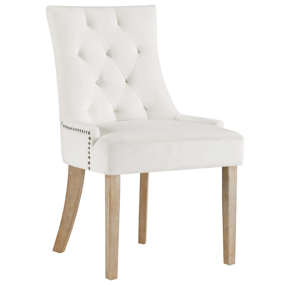 Pose Velvet Dining Chair Ivory - Modway