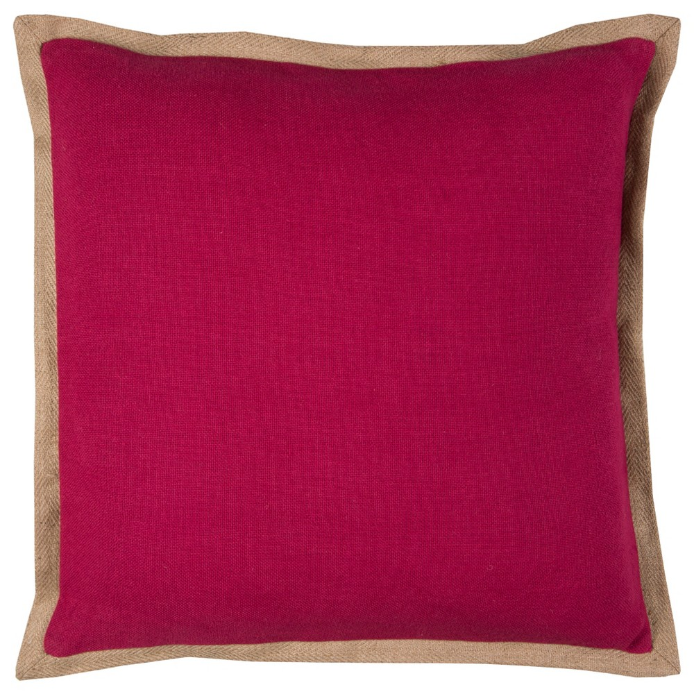 Rizzy Home Solid Throw Pillow Magenta (Pink)
