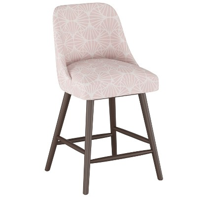 "27"" Geller Modern Counter Height Barstool Scallop Tile Pink - Project 62™"