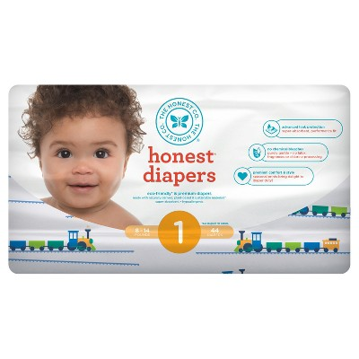 Honest Company Diapers, Trains - Size 1 (44ct)