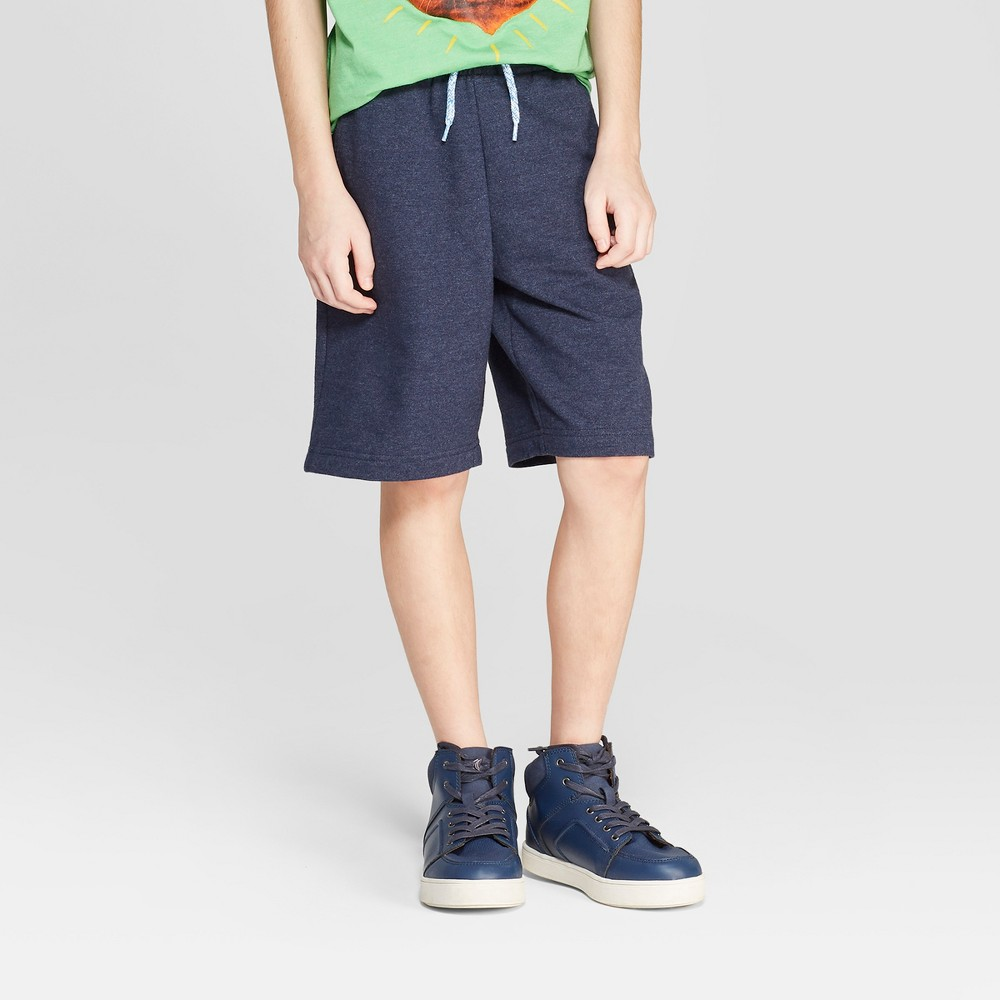 Boys' Knit Pull-On Shorts with Pockets - Cat & Jack Navy (Blue) XS