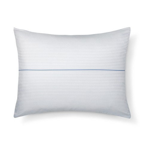 Hand Drawn Stripe Pillow Sham (Standard) Sleek Gray & Nighttime Blue - Room Essentials™ - image 1 of 2