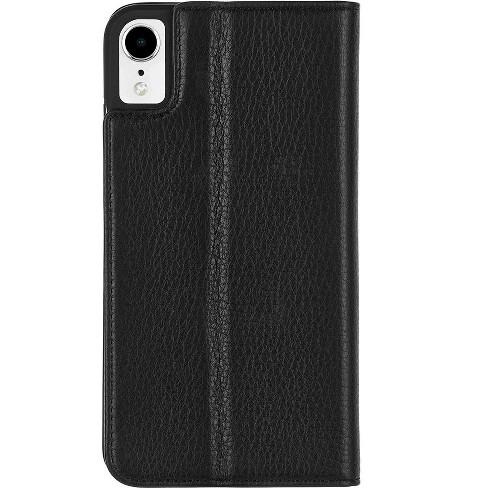 best service 623ab 24fef Case-Mate iPhone XR Wallet Folio Black Case