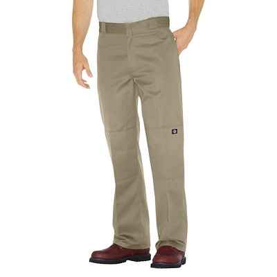 Dickies Men's Loose Straight Fit Twill Double Knee Work Pants with Extra Pocket- Khaki 34x34, Size: Small, Beige