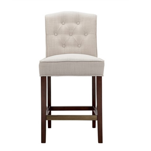 "26"" Khloe Tufted Counter Stool - Tan - image 1 of 7"
