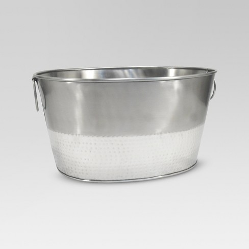 Hammered Metal Oval Beverage Tub - Threshold™ - image 1 of 1