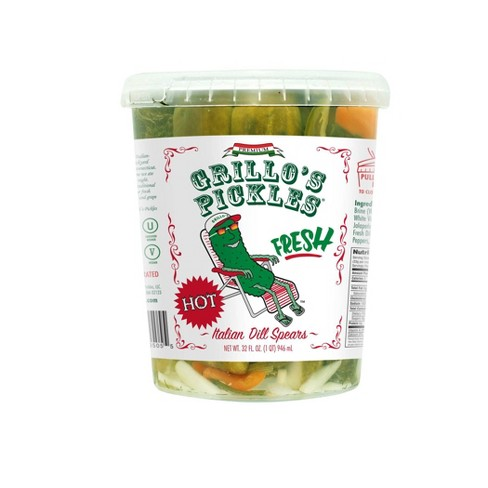 Grillo's Pickles Hot Italian Dill Spears - 32oz - image 1 of 3