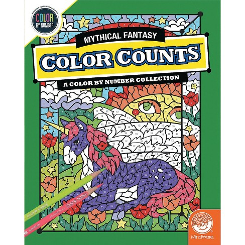MindWare Color By Number Color Counts: Mythical Fantasy - Coloring Books - image 1 of 2