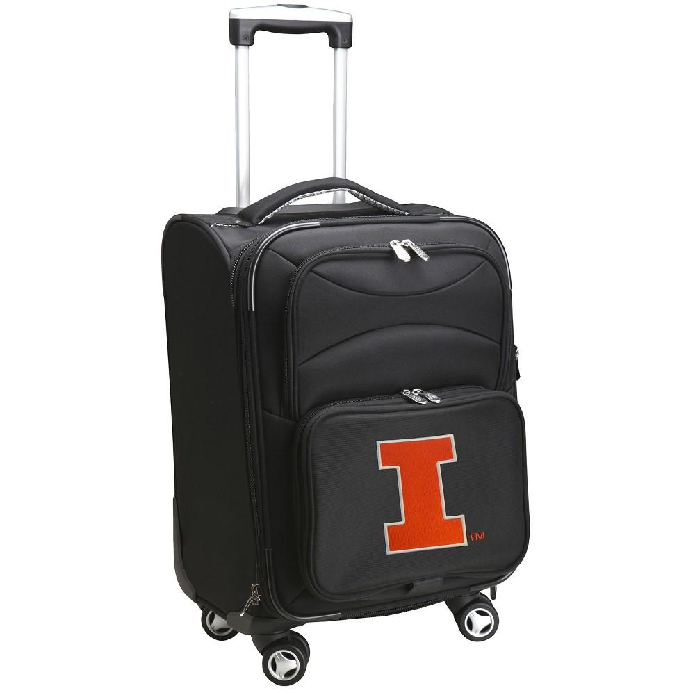 NCAA Illinois Fighting Illini Spinner Carry On Suitcase
