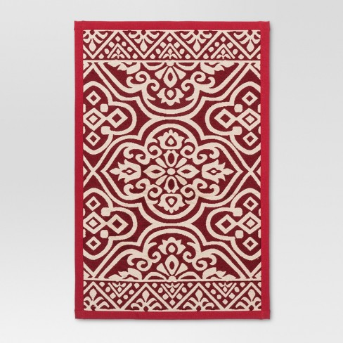 "34""x20"" Woven Floor Mat Red - Threshold™ - image 1 of 2"