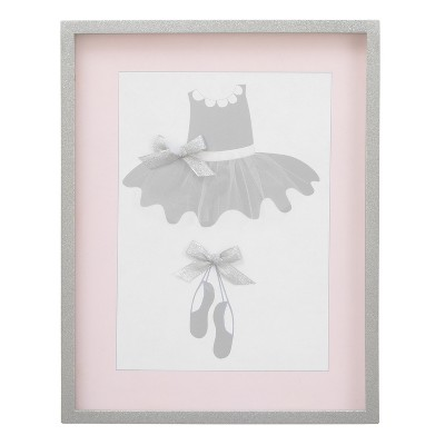 NoJo Dimensional Framed Art - Ballerina Bows - White