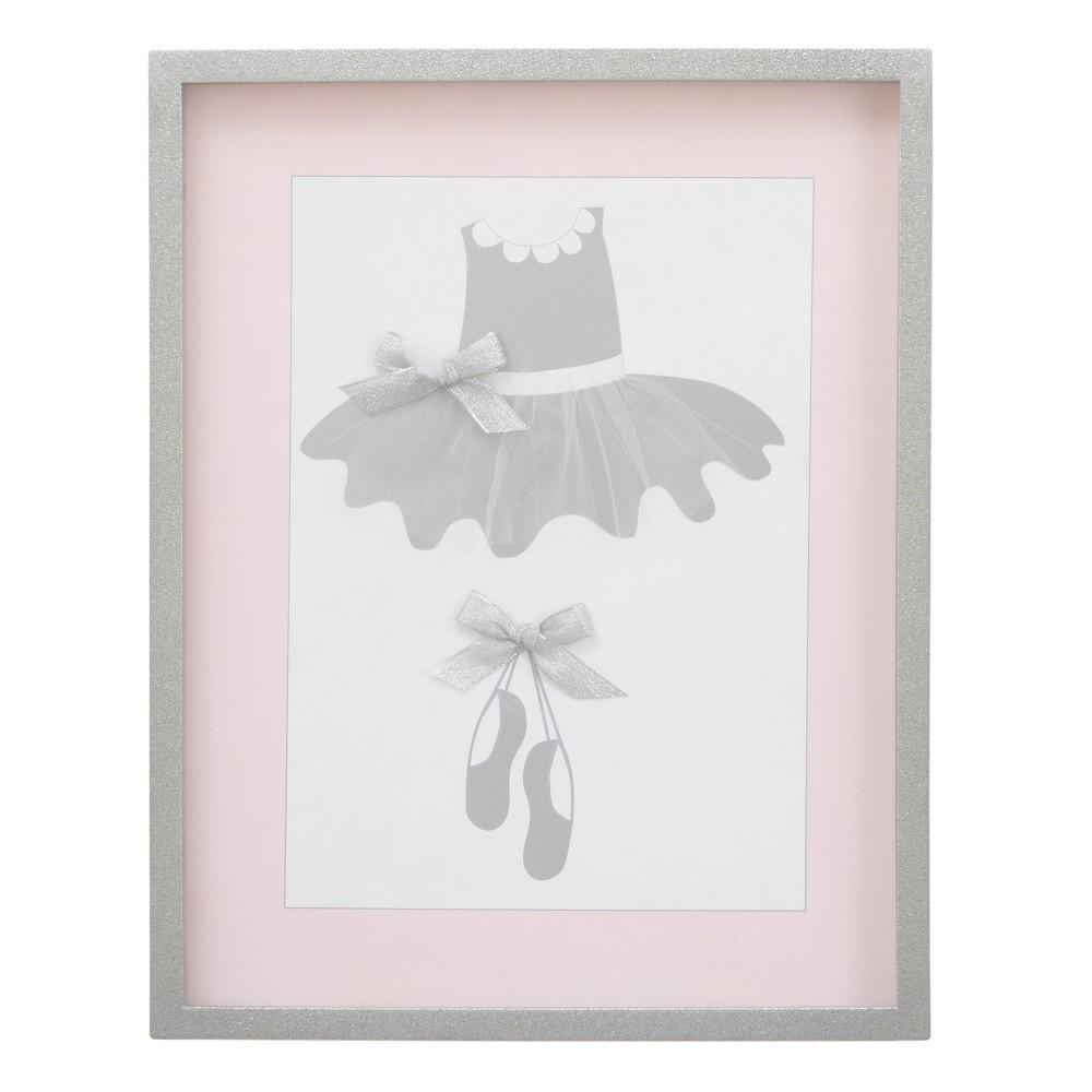 Image of NoJo Dimensional Framed Art - Ballerina Bows - White