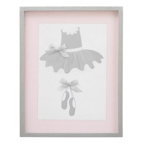 NoJo Dimensional Framed Art - Ballerina Bows - White - image 1 of 3