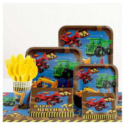 Under Construction Birthday Party Supplies Kit
