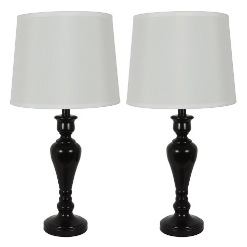 Marie Table Lamp Set Black (Includes Energy Efficient Light Bulb) - Decor Therapy - image 1 of 4