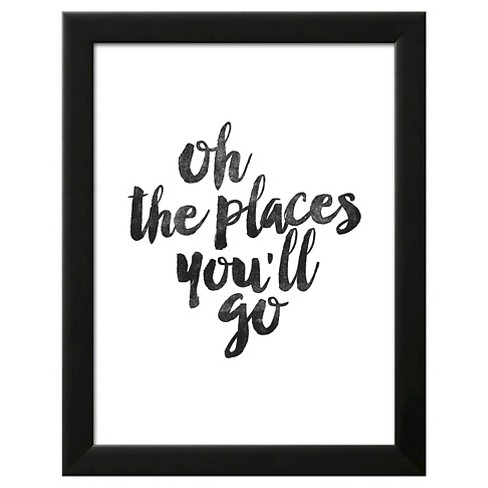 Oh the Places You'll Go Framed Art Print - image 1 of 3