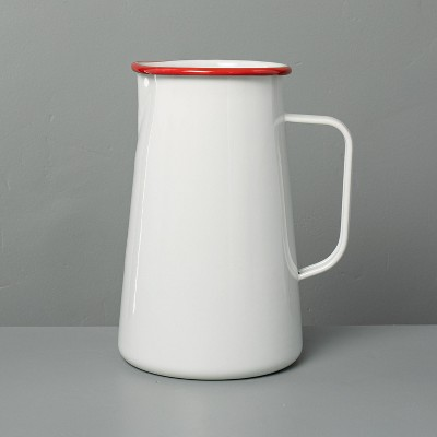 Large Enamel Pitcher Red/Cream - Hearth & Hand™ with Magnolia