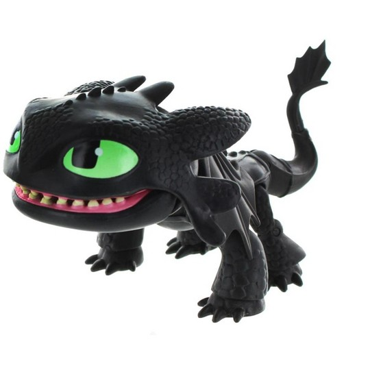 """""""The Loyal Subjects How To Train Your Dragon 6"""""""" Action Vinyl: Toothless (Glow Eyes)"""" image number null"""