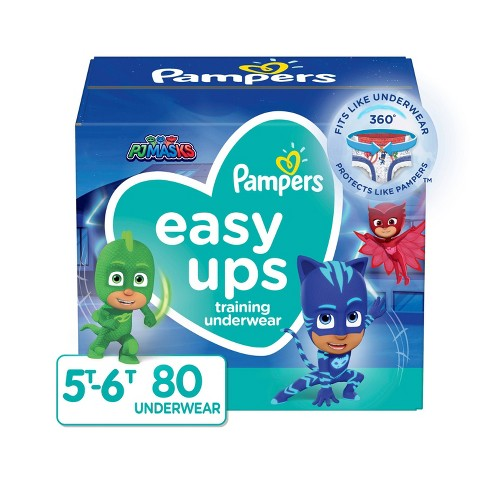 Pampers Easy Ups Boys' Training Pants Enormous Pack - Size 5T-6T - 80ct - image 1 of 4