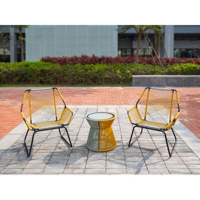 Carag 3pc Patio Chat Set Blue/Yellow   Project 62™
