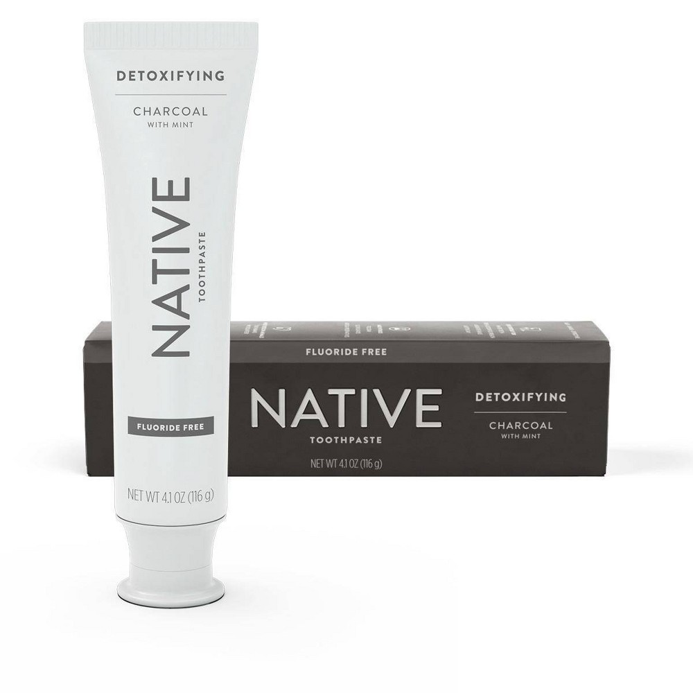 Image of Native Charcoal with Mint Fluoride Free Toothpaste - 4.1 oz