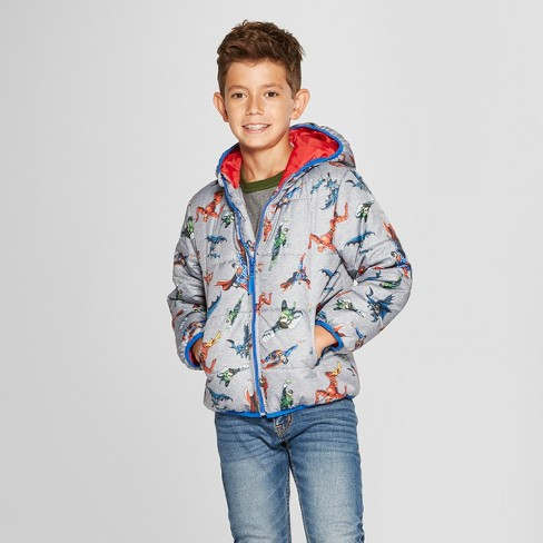 a061bf7a7 Boys  Justice League Puffer Jacket - Gray   Target