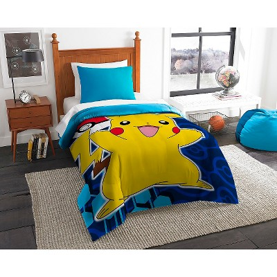 Pokémon Pika Pokeball Comforter (Twin)