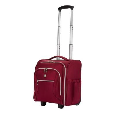 """SWISSGEAR 16"""" Checklite Underseat Carry On Suitcase - Burgundy"""