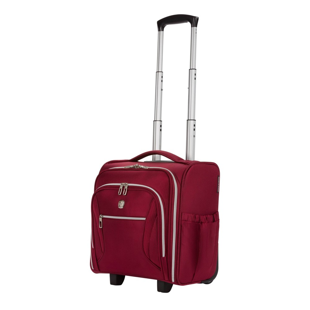 """Image of """"SWISSGEAR 16"""""""" Checklite Underseat Carry On Suitcase - Burgundy, Red"""""""