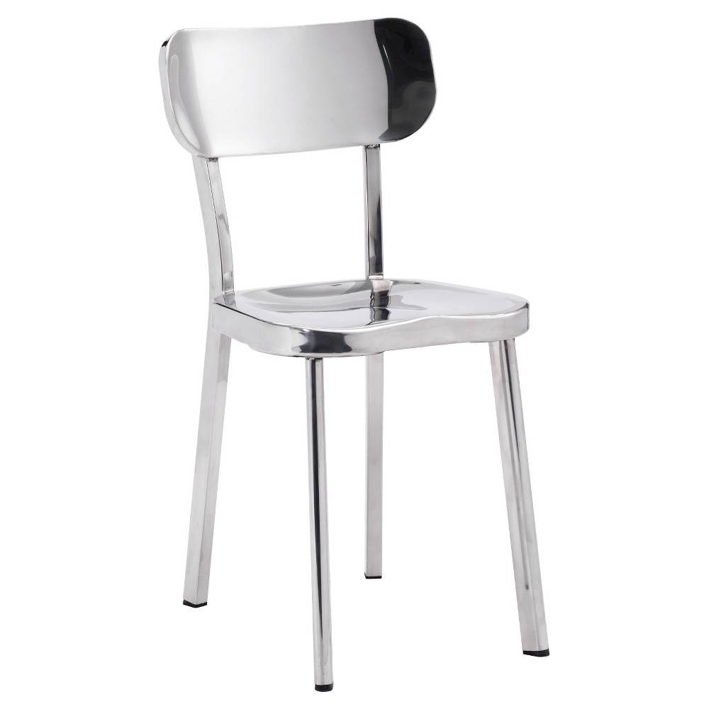 Classic Modern Stainless Steel (Silver) Dining Chair (Set of 2) - ZM Home