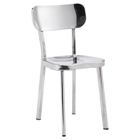 Clic Modern Stainless Steel Dining Chair Set Of 2 Zm Home