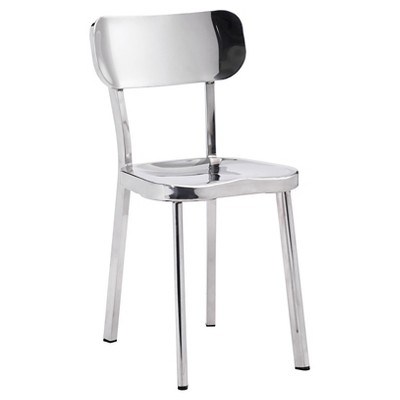 Classic Modern Stainless Steel Dining Chair (Set Of 2)   ZM Home