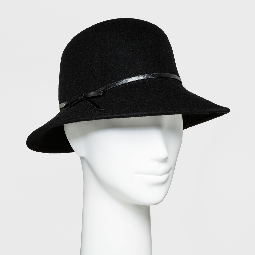 1930s Style Hats | 30s Ladies Hats Womens Trench Faux Suede Fashion Hat - A New Day Black $19.99 AT vintagedancer.com