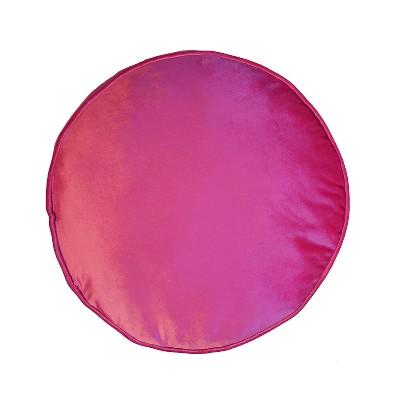 "17"" Panne Velvet Round Pillow - Edie@Home"