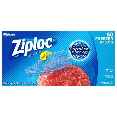 Ziploc Grip N Seal Super Mega Pack Freezer Gallon - 80ct