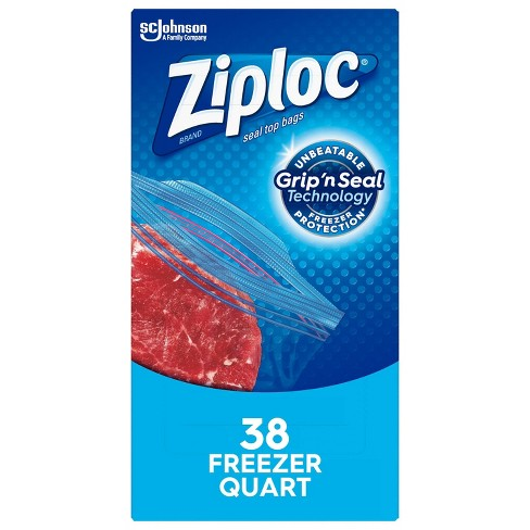 Ziploc Freezer Quart Bags - image 1 of 4