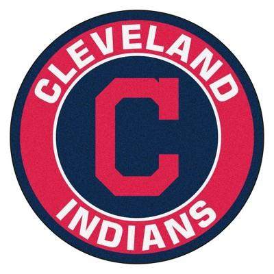 """MLB Cleveland Indians 27""""x27"""" Roundel Rug"""