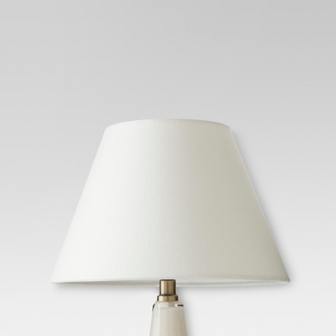 Modified Empire Fabric Lamp Shade - Small - White - Threshold™ - image 1 of 2
