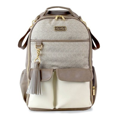 Itzy Ritzy Boss Backpack Diaper Bag - Vanilla Latte