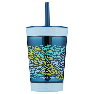 Contigo Kids 14oz Spill-Proof Tumbler with Straw Nautical Blue