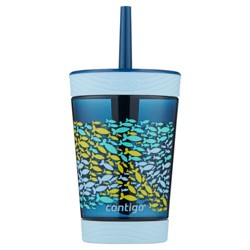 Contigo Kids 14oz Spill-Proof Tumbler with Straw Nautical Blue