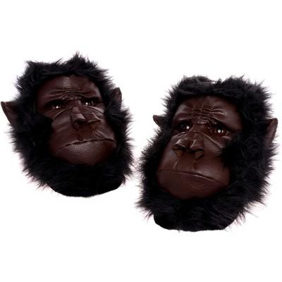 FUNZIEZ! - Men's Gorilla Animal Slippers